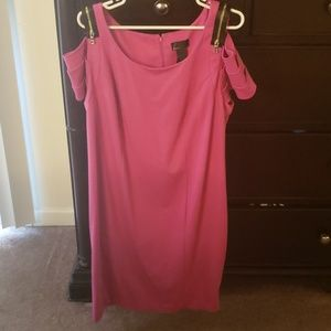 Lane Bryant Pink Cold Shoulder Sheath Dress